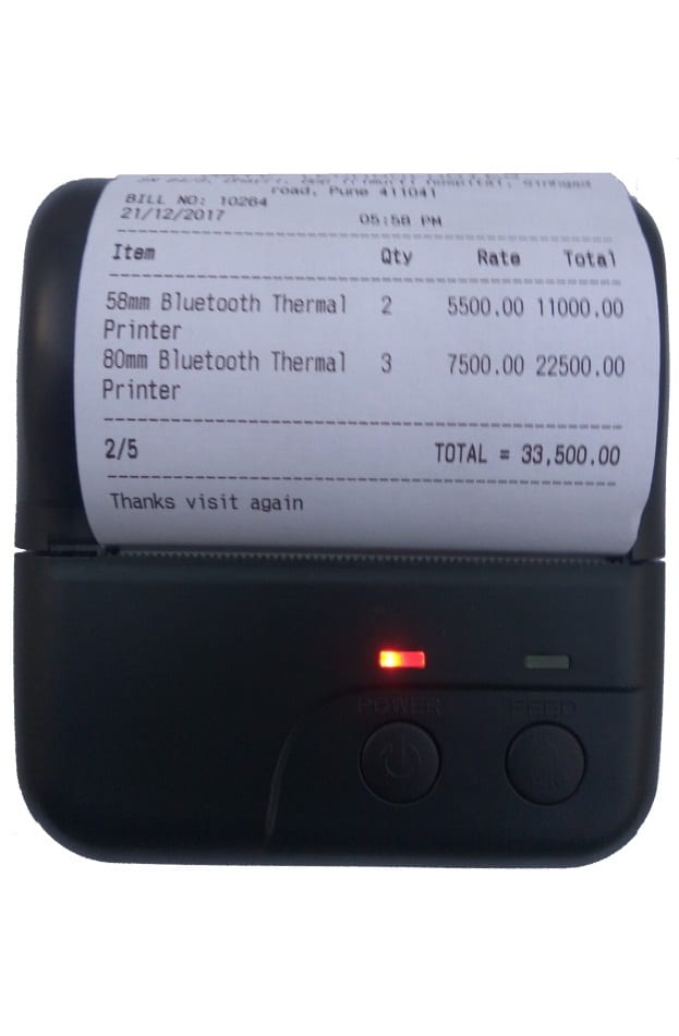 80mm Pocket Printer For Android Bluetooth Thermal Receipt Printer